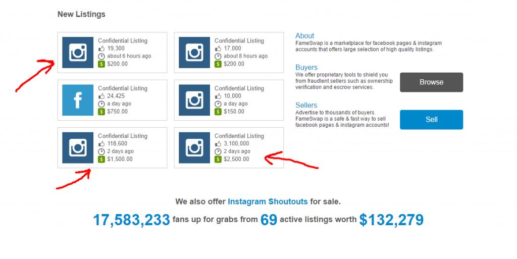Продажа аккаунта в Инстаграм