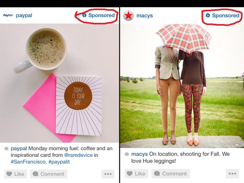 Пример рекламного поста в Инстаграм